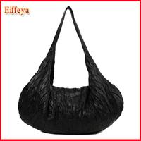 EU and US Fashion Black Designer Women Genuine Leather Handbags Lambskin Large Women Messenger Bags Tote