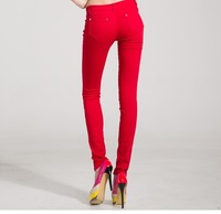 New fashion Sexy Candy Color 2014 Summer trousers women's Pencil pants/Casual pants/Skinny Pants Fit jeans feet pants & capris