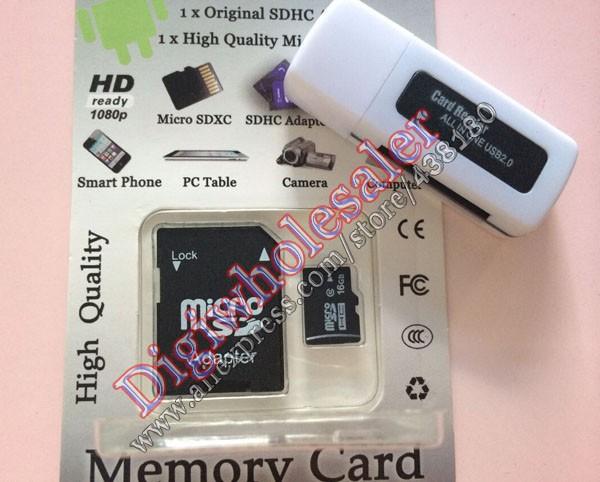 micro sd card 4gb 32gb class 10 full capaicity 8gb 16 gb 64gb memory tf sd card free adapter usb reader(China (Mainland))