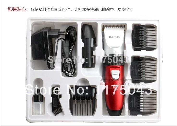 original kemei 3902 professional electric hair trimmer adjustable length mens rechargeable beard. Black Bedroom Furniture Sets. Home Design Ideas