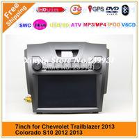 Chevrolet trailblazer 2013 colorado S10 car audio and video DVD player with GPS +SWC +ATV+IPOD+BT+Radio+Telephone book+Free map