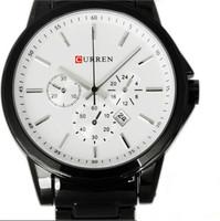 New Top Fasion Hardlex Stainless Steel Round 2014 Watch Curren Watches Men Brand Hand Wind Quartz Military Wristwatch Male Clock