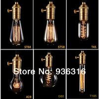 Free shipping Edison bulb chandelier around creative retro clothing Antique Chandelier Bar Cafe Restaurant 6pcs bulb+100cm wire