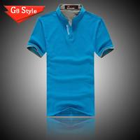 LILING men summer 2014 new short sleeve cotton Plaid casual t shirt shirts Big large  size  for men man 6 color XXXL Wholesale
