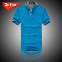 LILING men summer 2015 new short sleeve cotton Plaid casual t shirt shirts Big large  size  for men man 6 color XXXL Wholesale