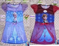 have stock!wholesale!4-10 years Frozen Girl Elsa & Anna Princess Girl Dress Girl Clothing white frozen childen Dress