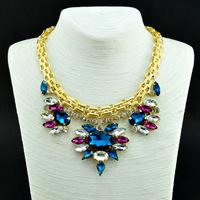 2014 Fashion Wholesale Shourouk Crystal  Chain Chunky Choker Statement Necklace & Pendant Fashion For Women