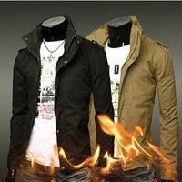 2015 New Arrival Fashion Man Jacket Turn-down Collar Men's Casual Blazer Slim Style Long Sleeve Jacket Outwear M-XXXL