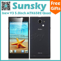 Original Inew V3 MTK6582 Quad Core Mobile Phone Android 4.2  5.0inch IPS Screen 1GB 16GB 13MP Camera NFC/OTG/3G/GPS Smartphone