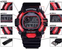 Men quartz sports watch with silicone rubber strap LED light  digital waterproof alarm calendar multifunction hot sale dropship