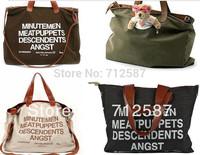 Free Shipping Hot sell 2013 letter Casual Canvas Bag Women's Messenger Bags Handbag