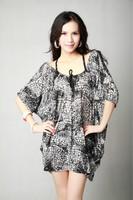 XL-6XL Plus Size Sexy Novelty Women Dress Print Lady Oversize Big Large Size 3XL 4XL 5XL XXXL XXXXL XXXXXXL 8XL 2014 New Summer
