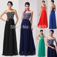 Women Strapless Chiffon Elegant Long Evening Dresses Sequins Maxi Prom Party Dress vestidos de festa Formal Evening Gown CL6050