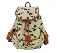 Fashion Women Vintage Floral Casual Canvas Sports School Bag Backpack Free Shipping