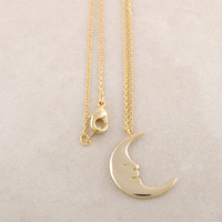 collares 2014 costume jewelry collares vintage Moon Pendant Necklaces wholesale 10 pce/lot mix color