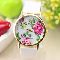 18 Designs Hot Selling Leather Rose Watch Flower Geneva Watches For Women Dress Watch Quartz Watches 1piece/lot BW-SB-557