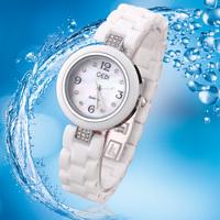GEDI Fashion Ceramic Watch  Cheap Crystal Hours Women's Dress Watches Analog Quartz