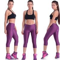 2014 Yoga Pants Capris Candy Color Solid Color High Waist Leggings Sporting Casual Pants