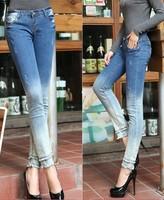 2014 New Women Jeans Women Slim Denim Pencil Pants Lady Boots Pants Fashion Casual Women Denim Jeans Women Clothing Trousers
