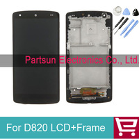 Original lcd for Nexus 5 D820 LCD Display with Touch Screen Digitizer and Frame Assembly Black Color 5pcs/lot