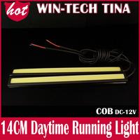 Free Shipping 4pcs(2pair) COB Car LED Daytime Running Light 14cm 60 LED Car DRL lamp Fog Driving Light Super Bright