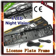 Оптовая продажа! новый автомобиль номерного знака камера с ик из светодиодов фонари заднего вида камера ночного видения помощи при парковке, бесплатная доставка
