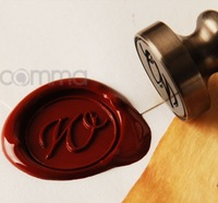 Letter Wax Stamp Korean Alphabet A-Z to choose Vintage Sealing Wax Chapter A set of One Stamp,Three Wax,One Spoon,Two White Wax