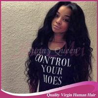 Wet and wavy cheap hair Brazilian virgin U Part human hair Wigs 100% Unprocessed Heavy Density with bleach knots For Black Women