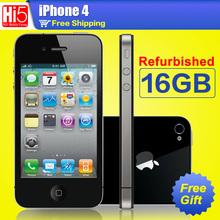 Free shipping unlock apple iphone 4 16GB ROM  5MP Camera  Wifi GPS WCDMA 3G Original  Apple iphone4 refurbished