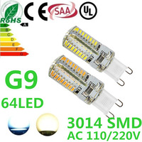 2X G9 AC110V/220V  LED 5W 3014 SMD 280LM Warm white/white Non-polar LED Bulb Lamp High Lumen Energy Saving  Free Shipping