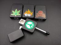 4pcs  Oil Lighter Black Metal Pipe Rasta Smoking Pipe Weed 4 Designs Dropshipping