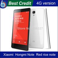 In stock!Original Xiaomi Hongmi Note Qualcomm Snapdragon 400 4G FDD LTE Red rice note 2GB /8GB WCDMA 3G 5.5 inch GPS MIUI/Kate