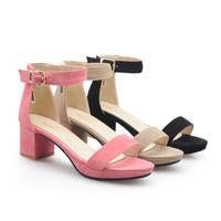 Discount 50% off large size 34-43 women's thick heel sandals low heel platform sandals ladies summer casual shoes 8-06