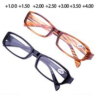 10 pieces / lot cheap promotion plastic reading glasses unisex black/brown resin  super light men women eyeglasses wholesale