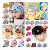 children Baby Boy girl OWL Dog Fox Stripe pattern Casquette Peaked Baseball Beret Cotton kids Sun Dribble Hats Cap accessories
