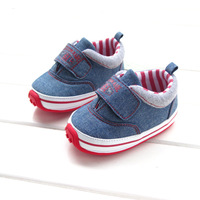 2014 Brand 1 2 3 Years Denim Rubber Sole Shoe Soft Antiskid Baby Shoes First Walkers Shoes Toddler Girl Boy Kid Childrens Shoes