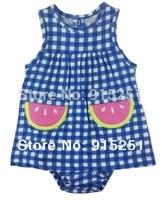 14 New arrival  cotton lovely  baby girl  dress romper baby jumpsuit carter baby girl sunsuit dress