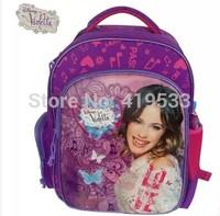 Free Shipping 2014 Hot Sale new style  Violetta kids backpack Students in school bag Printed shoulder bag knapsack