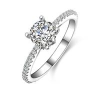Round Brilliant 3/4 Carat Cushion Princess Cut NSCD Synthetic Diamond Engagement Wedding Ring (MATE R074)