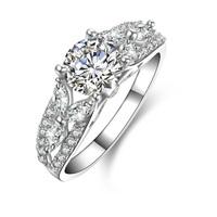 1.0ct Brilliant princess cut sona Simulated Diamond Engagement Ring (MATE R075)