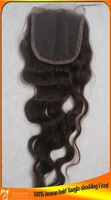 Free Shipping Virgin Indian Hair Water Wave Lace Top Closure,Size 4x4,Tangle,Shedding Free,Bleached Knots