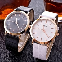 Wholesale 2014 NEW Fashion Women Dress Watches.Hot Unisex Lovers' Leather Strap Watches.Quartz Watch Casual Style Wristwatches