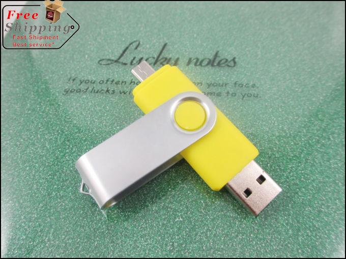 New 64GB USB Flash Drive Pen Drive 32GB 16GB 8GB 4GB Pendrive OTG external storage Smart Phone Memory Card Stick MicroData HOT(China (Mainland))