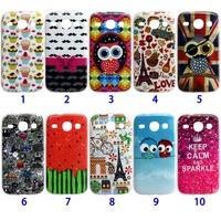 Good quality Paris Eiffel owl soft tpu case cover for Samsung Galaxy Core I8260 I8262 phone case