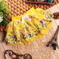 Children skirt 3 colors for choose summer 2014 Korean children dancing skirt girls flower skirts