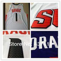 New Arrival !!! Phoenix #1 Goran Dragic White Purple New Fabric  Rev 30 Embroidery Lgos Cheap Basketball jersey