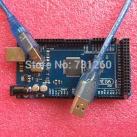 with LOGO Mega 2560 R3 Mega2560 REV3 ATmega2560-16AU Board + USB Cable compatible 10set Freeshipping