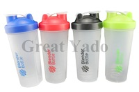 Colored Blender Bottle protein Shaker Mixing bottle with Wire whisk 600ML 4 color options free shipping