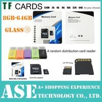 Hot sale 1PCS Micro sd card 64GB 32GB 16GB 8GB 4GB class 6 class10 Real Capacity memory card TF card Free card reader + adapter