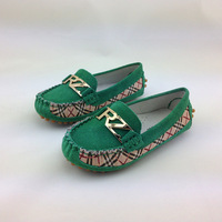 2014 Flats Shoes Girl Child Genuine Leather Loafers Casual Shoes For Girl Boy 23-31size